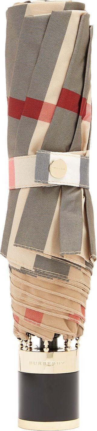 Burberry London England Trafalgar check-print folding umbrella