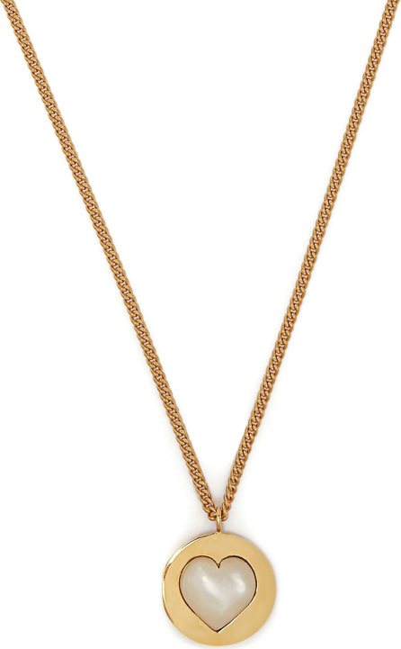 Theodora Warre Heart gold-plated and pearl necklace