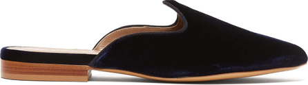 Le Monde Beryl Venetian backless velvet slipper shoes