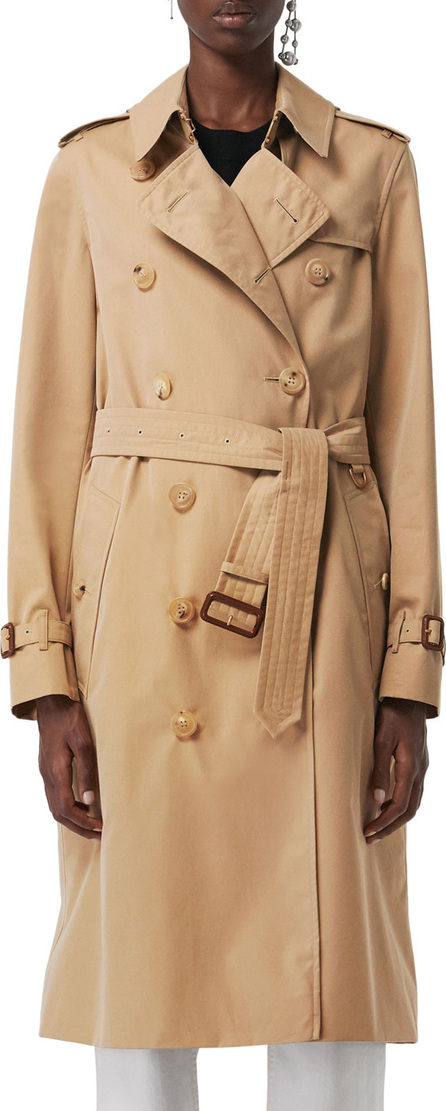 Burberry London England Kensington Belted Long Trench Coat