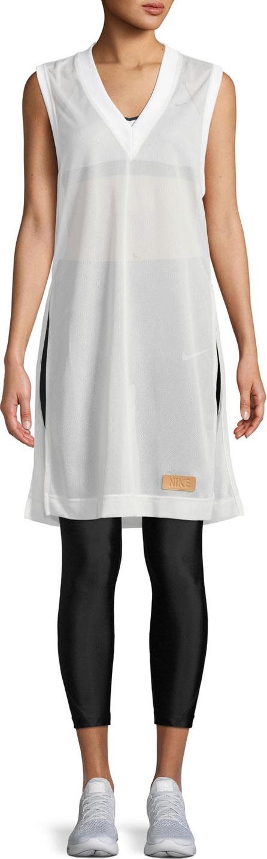 Nike Side-Split Sleeveless Mesh Shirtdress