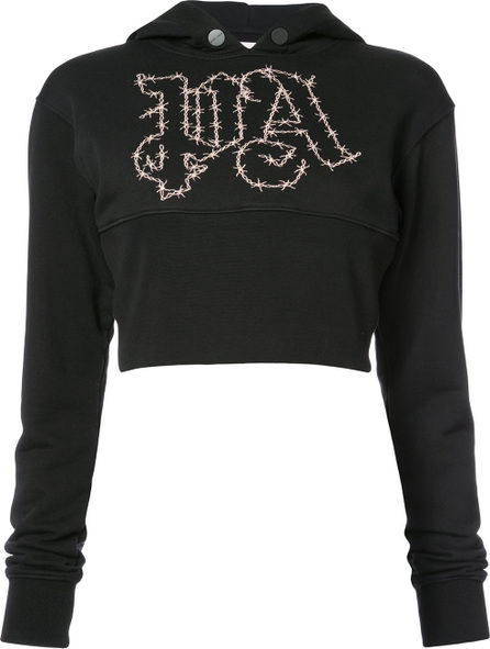 Palm Angels Barbwire cropped hoodie