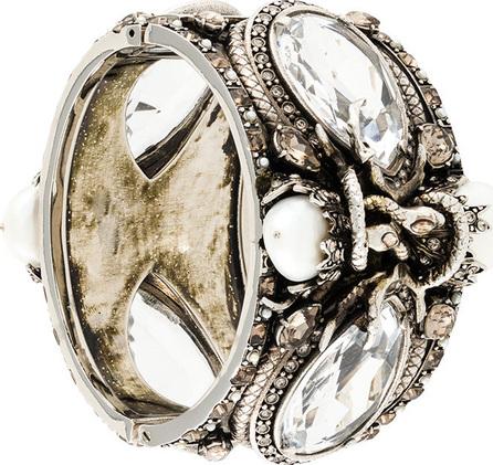 Alexander McQueen Embellished cuff bracelet