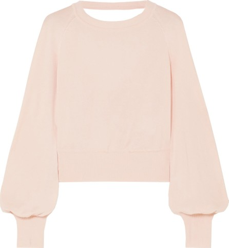 ADEAM Open-back knotted stretch-knit sweater