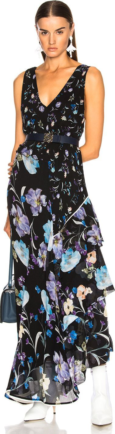 3.1 Phillip Lim Floral Ruffle Dress