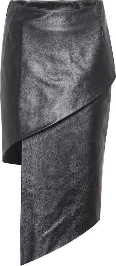 Vetements Asymmetric leather skirt