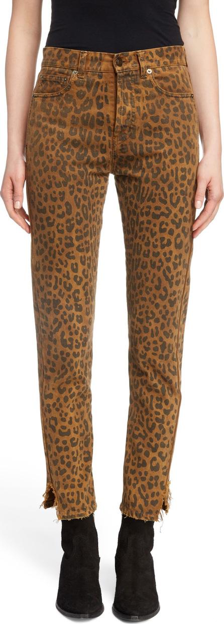 Saint Laurent Leopard Ankle Jeans