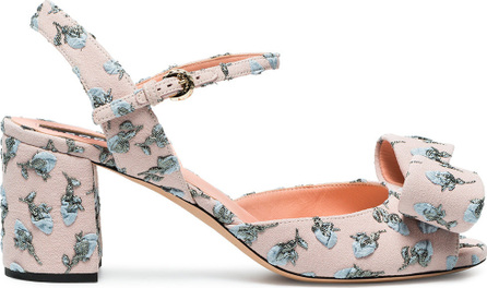 ROCHAS Floral embroidered sandals