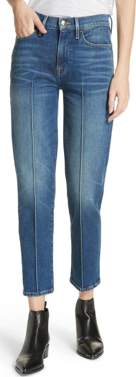 FRAME DENIM Le High Pintucked Straight Jeans