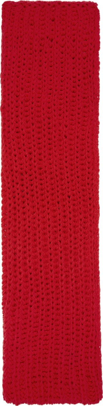 A.W.A.K.E Red Long Chunky Scarf