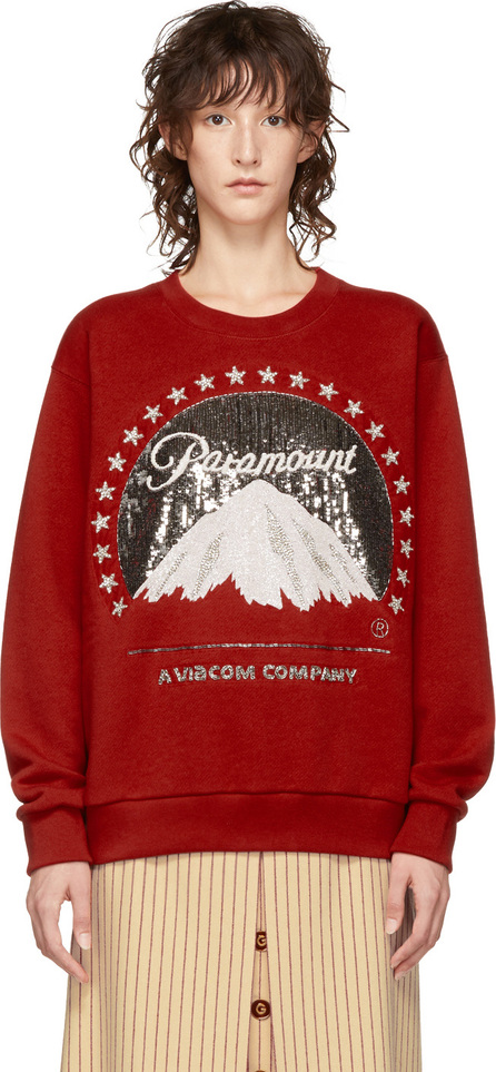 Gucci Red Paramount Pictures® Edition Sequin Sweatshirt
