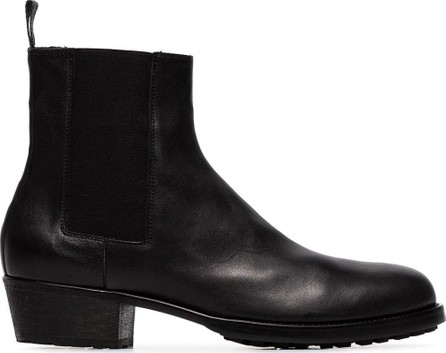 Haider Ackermann Black classic leather chelsea boots
