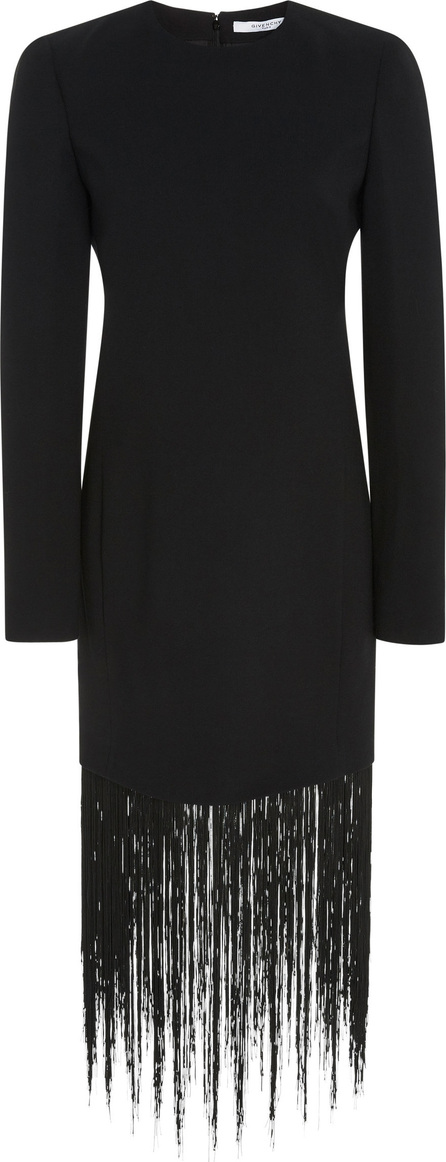 Givenchy Fringed Wool-Crepe Dress