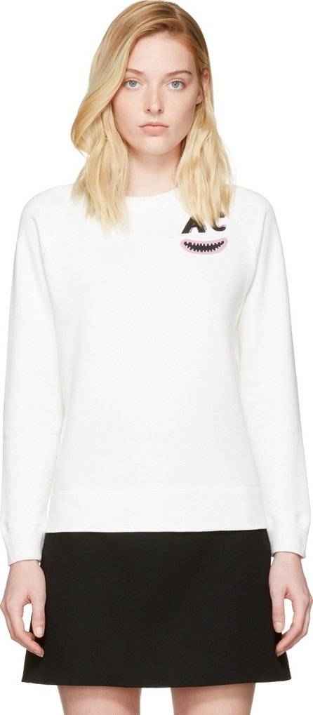 Alexachung Ivory AC Teeth Sweatshirt