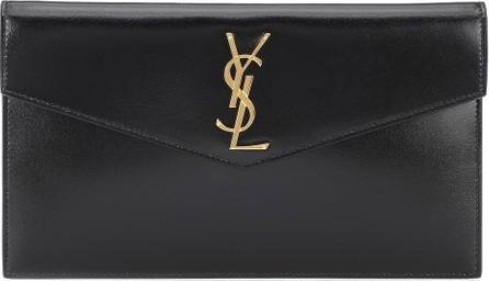 Saint Laurent Uptown leather clutch