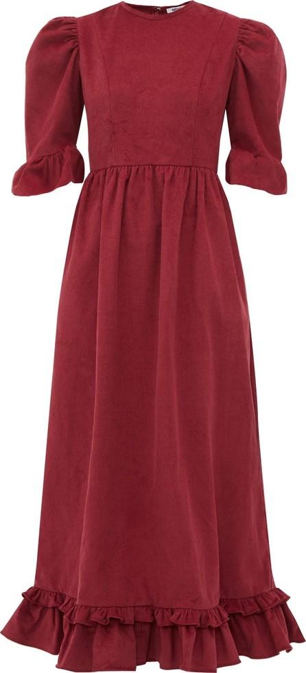 Batsheva Puff-sleeve cotton-corduroy dress