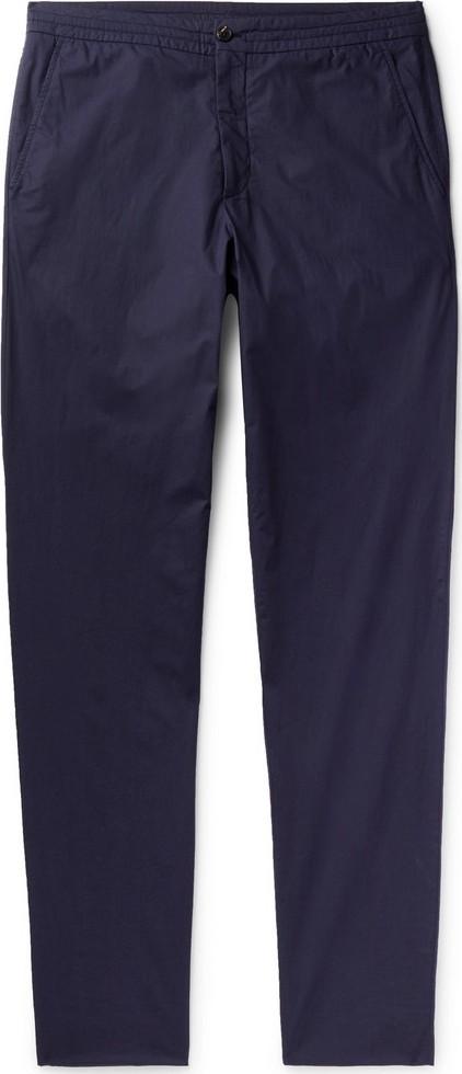 Ermenegildo Zegna Garment-Dyed Stretch-Cotton Gabardine Drawstring Trousers
