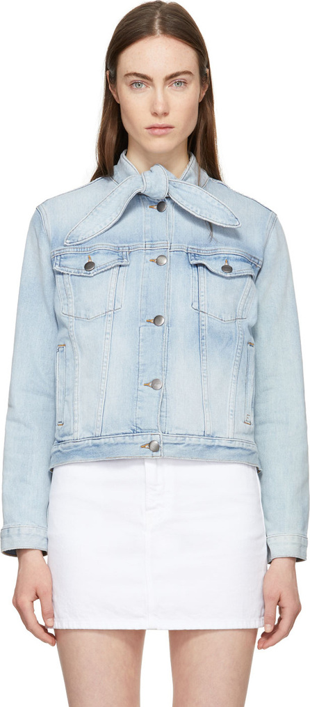 FRAME DENIM Blue 'The Neck' Denim Jacket