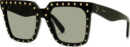 Celine Studded Square Acetate Sunglasses