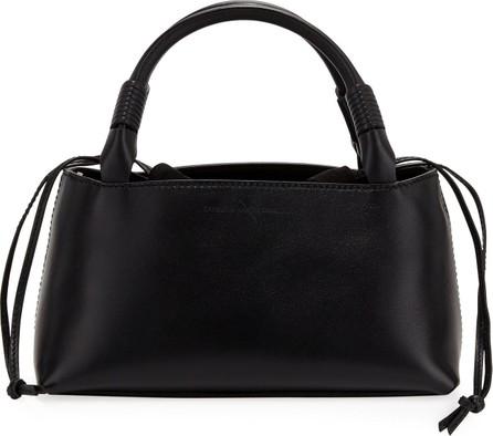 Carolina Santo Domingo Sirena Leather & Suede Drawstring Top Handle Bag