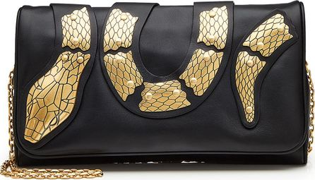 RED Valentino Embellished Leather Shoulder Bag