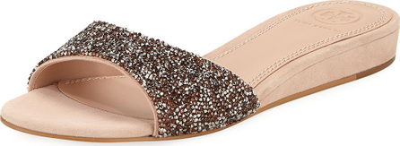 Tory Burch Elodie Glitter Wedge Sandals
