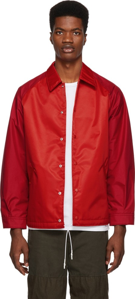 Comme des Garçons Homme Red Laminated Water Jacket