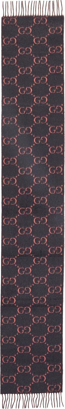 Gucci Reversible GG logo jacquard alpaca-wool scarf