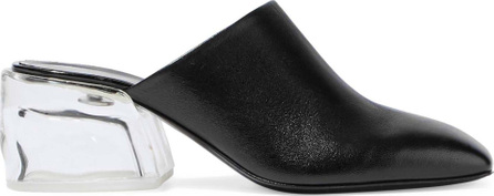 3.1 Phillip Lim Leather and Plexiglas mules