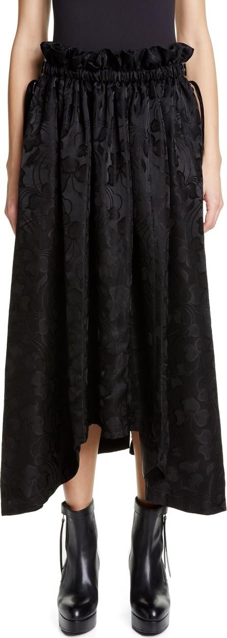 Noir Kei Ninomiya Belted Sharkbite Hem Jacquard Midi Skirt