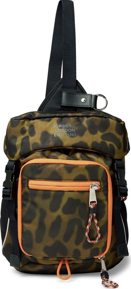 Burberry London England Animal-Print Nylon Cross-Body Backpack