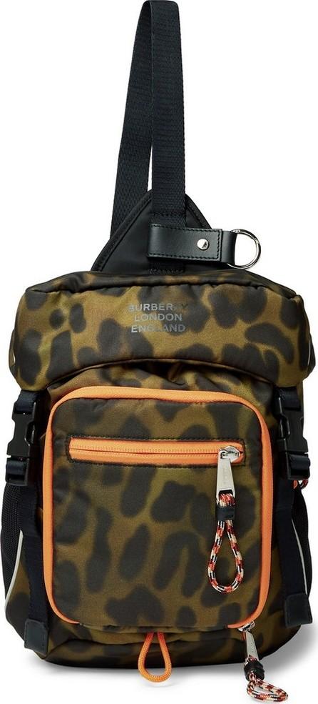 Burberry London England Animal-Print Nylon Cross-Body Backpack