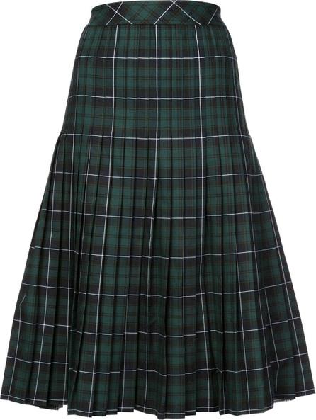 Sandy Liang Tartan panel pleated skirt