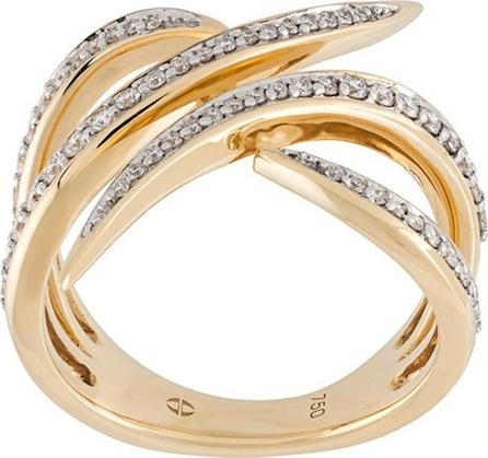 Gisele For Eshvi diamond encrusted 18kt gold ring