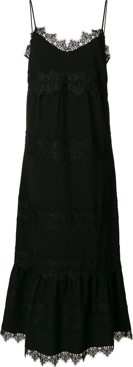 Ganni lace appliqué dress