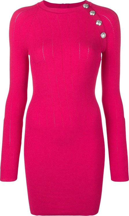 Balmain Button detail knit dress