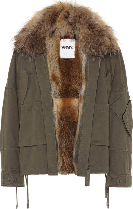 Army By Yves Salomon Fur-trimmed cotton jacket