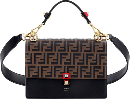 Fendi Kan I FF Embossed Shoulder Bag