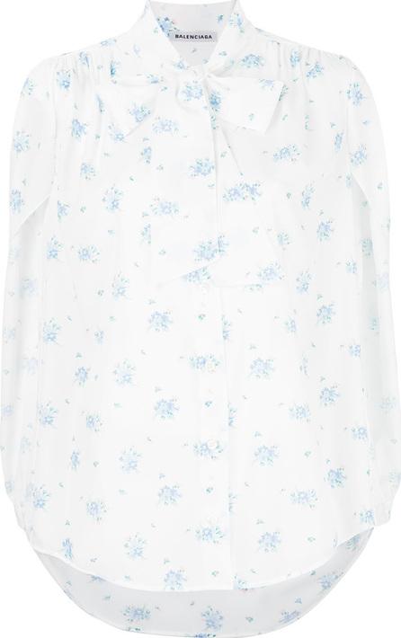 Balenciaga Floral short sleeved shirt