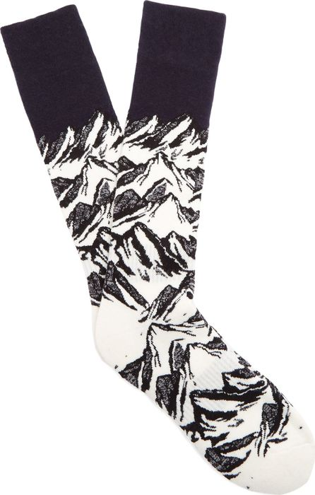 Fusalp Mountain-intarsia ski socks