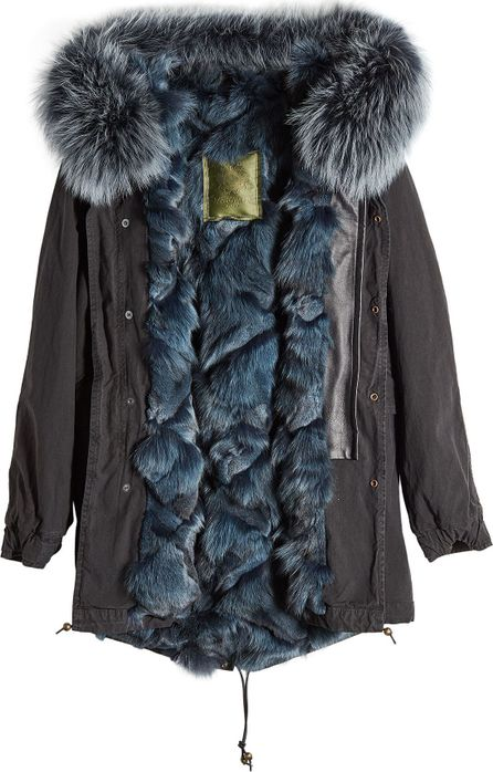 Mr&Mrs Italy Cotton Parka with Fur-Trimmed Hood and Lining
