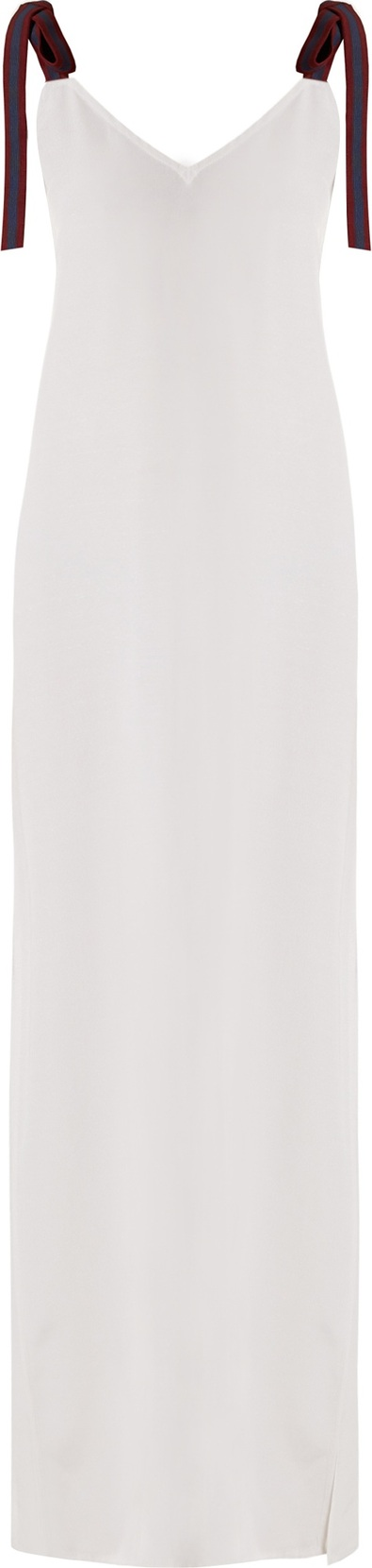 Albus Lumen Gia tie-back faille maxi dress