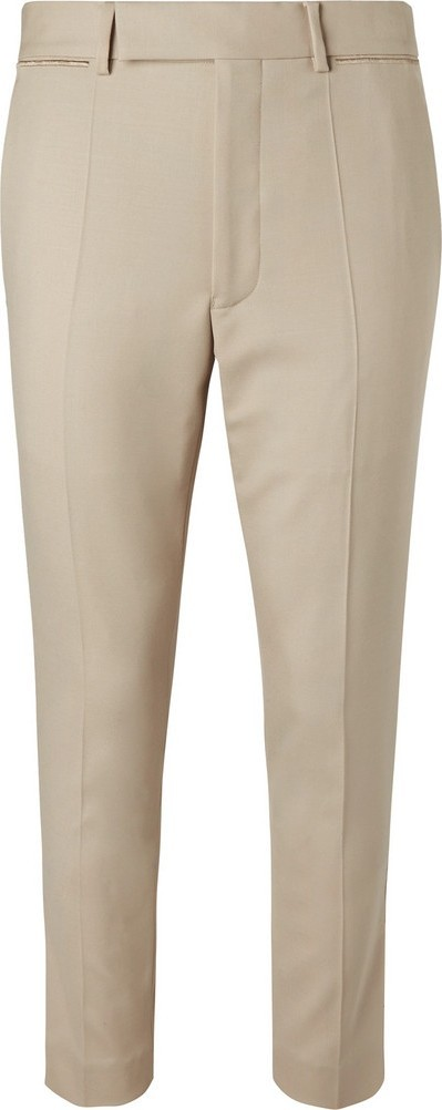Haider Ackermann Skinny-Fit Embroidered Wool-Blend Twill Trousers