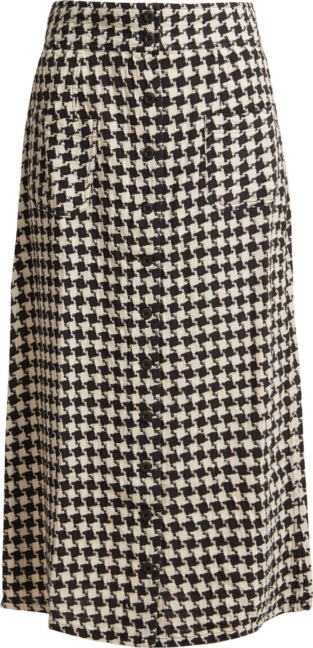 ace&jig Bo houndstooth cotton midi skirt