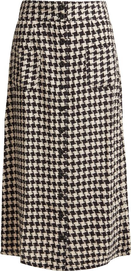 ace&jig Bo houndstooth cotton midi skirt