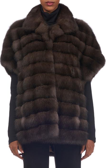 Gorski Cap-Sleeve Sable Fur Vest