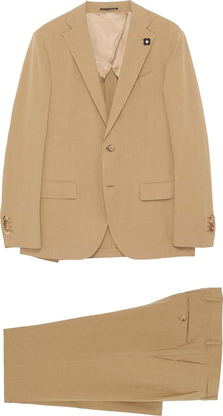 Lardini Notch lapel bamboo cotton blend suit