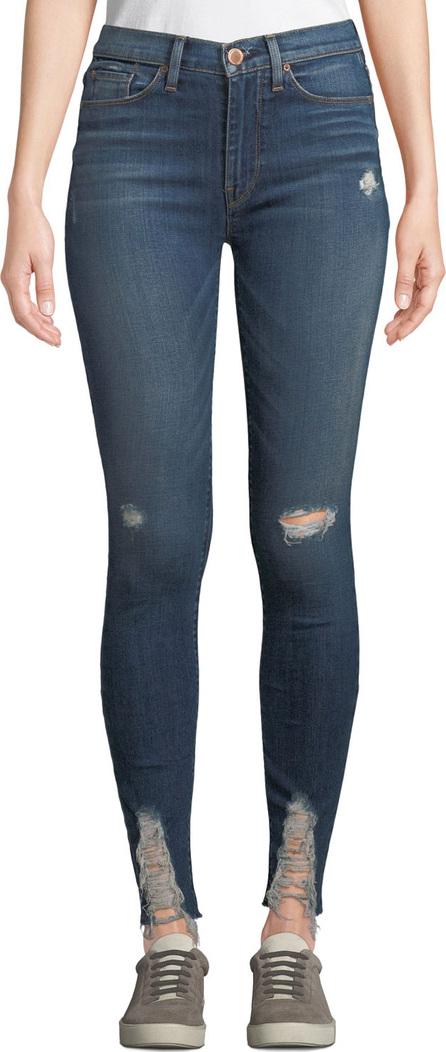 Hudson Barbara High-Waist Super Skinny Destroyed Ankle Jeans
