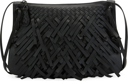 Bottega Veneta Palio Fringe Intrecciato Shoulder Bag