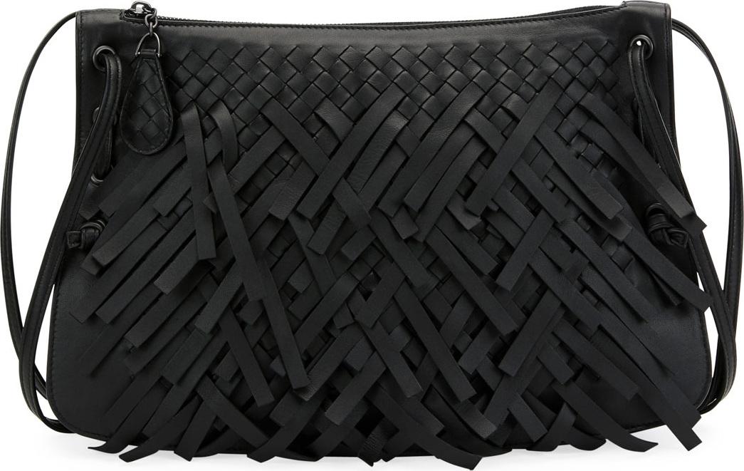 Bottega Veneta - Palio Fringe Intrecciato Shoulder Bag